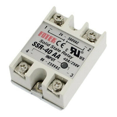 2X(SSR-40AA 40A Single Phase Solid State Relay 80-250V AC / 24-380V AC,whit I5N4
