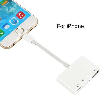 4 in1 Lightning to SD/TF/ USB Camera Reader Data Cable Adapter For Iphone 6 7 8