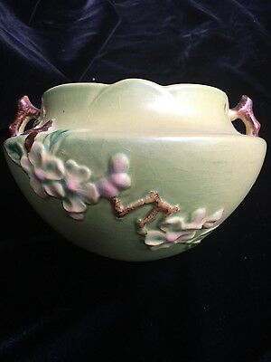 Roseville Pottery Hanging Planter With Chain Apple Blossom