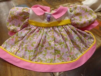 Vintage My Child doll Original Aussie Floral ABC Dress '88 Ribbons and Bows #1