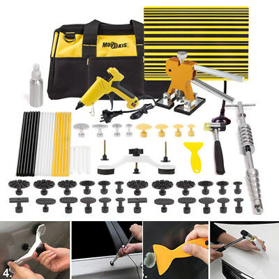 PDR Tools Dent Puller Lifter Paintless Hail Removal Dent Repair Hammer Kit AU
