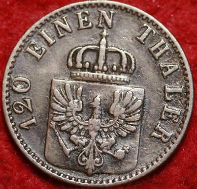 1868 Germany 3 Pfenninge Foreign Coin