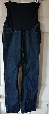 MOTHERHOOD MATERNITY Jeans Pants M Medium Stretch Full Belly Panel  Fit EUC