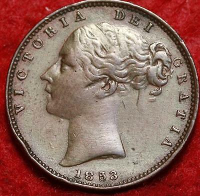 1853 Great Britain Farthing Foreign Coin
