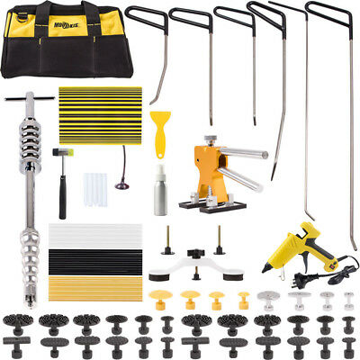 PDR Tools Rods Dent Puller Lifter Paintless Hail Removal Dent Repair Hammer Kit