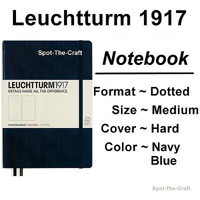 Leuchtturm1917 - Dotted Journal / Notebook - Medium A5 - Navy Blue