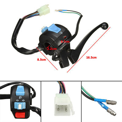 "7/8"" Motorcycle ATV High/Low Beam Turn Signal Light Horn Left Switch Control"