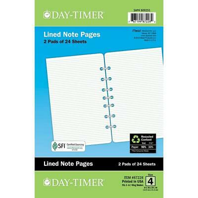 Day-Timer Lined Note Pages, Loose-Leaf, Desk Size, 5.5 x 8.5 Inches, Green...