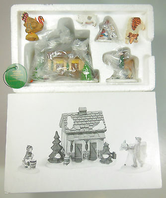 "Dept 56 Dickens' Village Accessory, ""tending The New Calves"", Item #58395, Mib"