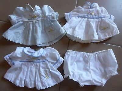 My Child Doll 3 Original Blue White Duckie Dresses + One Pants Only