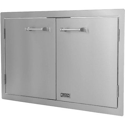 Stainless Steel Double Access Door BBQ Out Door Kitchen 33x22inches Flush Mount