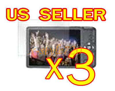 3x Clear LCD Screen Protector For Canon ELPH 100 / IXUS 115 HS