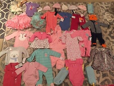 Huge Lot Of Baby Girl Clothing And Accessories New With Tags!!! L@@k!!!