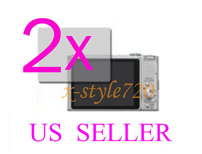 2x Clear LCD Screen Protector Guard Cover Film Sony CyberShot DSC-HX9V
