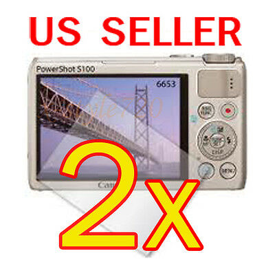 2x Canon PowerShot S100 Digital Camera LCD Screen Protector Cover Guard Film