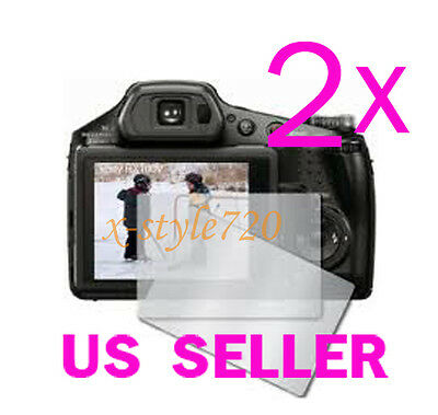 2x Clear LCD Screen Protector Guard Cover Film Sony CyberShot DSC-HX100V