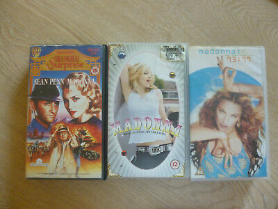 5 Madonna Video Tapes