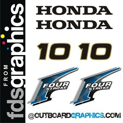 Honda 10hp 4 stroke outboard engine decals/sticker kit - other outputs available