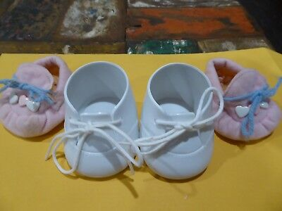 1 PAIR MY CHILD DOLL  SHOES 1980s  + SLIPPERS