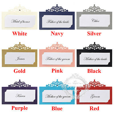 Free Custom Print - Laser Cut Personalized Wedding Party Name Table Place Cards