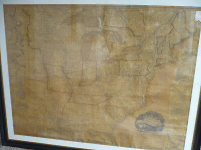 United States of America by H.S. Tanner 1836 gerahmtes Original