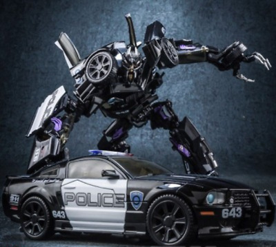 New Transformers 5 Black Mamba Alloy Infantry Roadblock Police Car MPM05