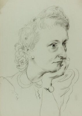 Georg Mayer-Marton - Mid 20th Century Charcoal Drawing, Portrait of a Woman
