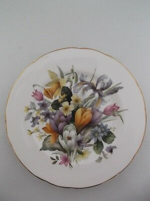 Newhall Bone China Plate - Floral Design, Staffordshire England