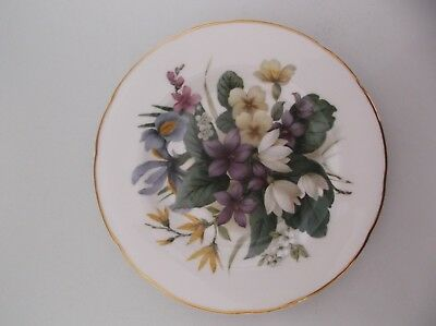 Mayfair Fine Bone China Plate - Floral Design, Staffordshire England