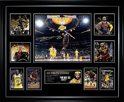 Le Bron James Limited Edition Framed Memorabilia