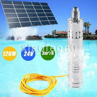 24V DC 864W Solar Submersible Water Pump Stainless Steel 3m3/Hour 120M Head AU