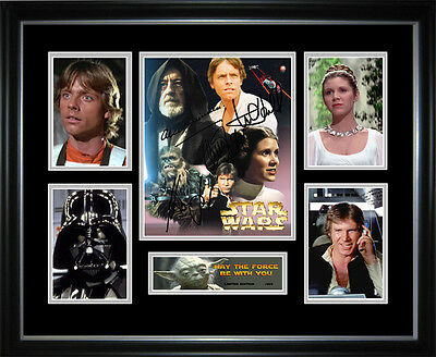 New Star Wars Signed Framed Memorabilia