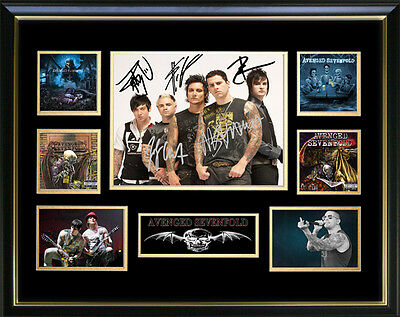 Avenged Sevenfold Signed Framed Memorabilia