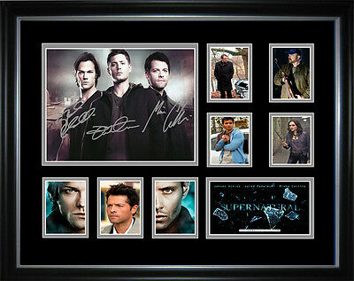 New Supernatural Signed Framed Memorabilia