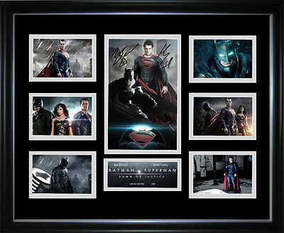 Batman v Superman Limited Edition Signed Framed Memorabilia