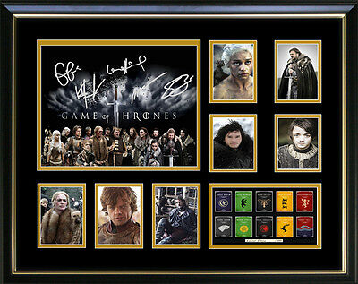 Game of Thrones Signed Framed Memorabilia New Design!