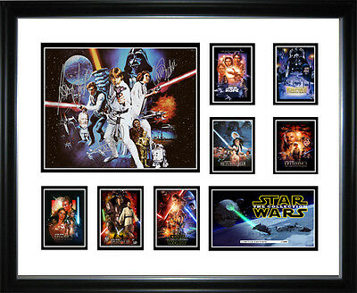 Star Wars Collection Limited Edition Signed Framed Memorabilia