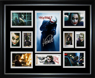 Heath Ledger (Joker) Framed Memorabilia