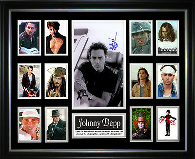 Johnny Depp Signed Framed Memorabila