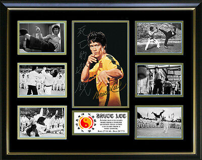 Bruce Lee Signed Framed Memorabilia