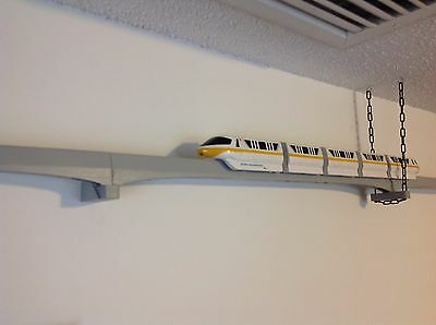 Single Track Wall Bracket for Mounting Disney Monorail Track to a Wall