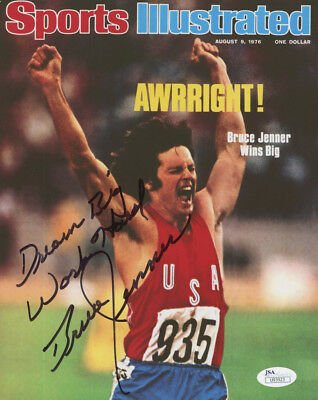 "Bruce Jenner Signed Sports Illustrated Cover 8x10 Photo Inscribed ""Dream Big""JSA"