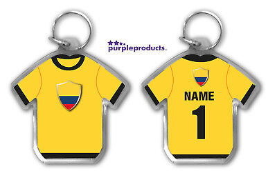 Personalised COLOMBIA 2018 World Cup Football Team Supporters Keyring