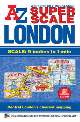 A-Z London Street Atlas Super Scale, Geographers A-Z Map Company, Used; Good Boo