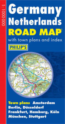Germany and Netherlands Road Map, Philips, Used; Good Book