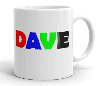 Novelty Ceramic Mug - DAVE - Great Gift Idea