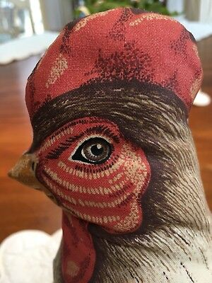 Primitive Antique HEN & CHICK 1892 reproduction Litho Rag Doll Pillow doorstop