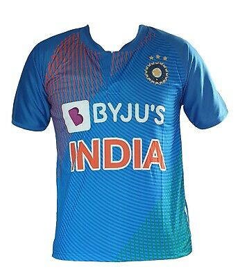 India Team Premium T20 Jersey Cricket 2019 Indian shirt ODI T20 OPPO World Cup