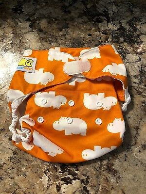 Diaper Safari Cover (Orange Hippos)