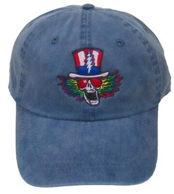 Hats New Authentic Grateful Dead Psycle Sam Embroidered Ball Cap in Navy
